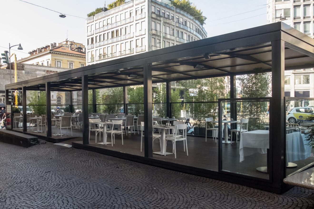 Tar Liguria: La chiusura di un dehors richiede il permesso di costruire