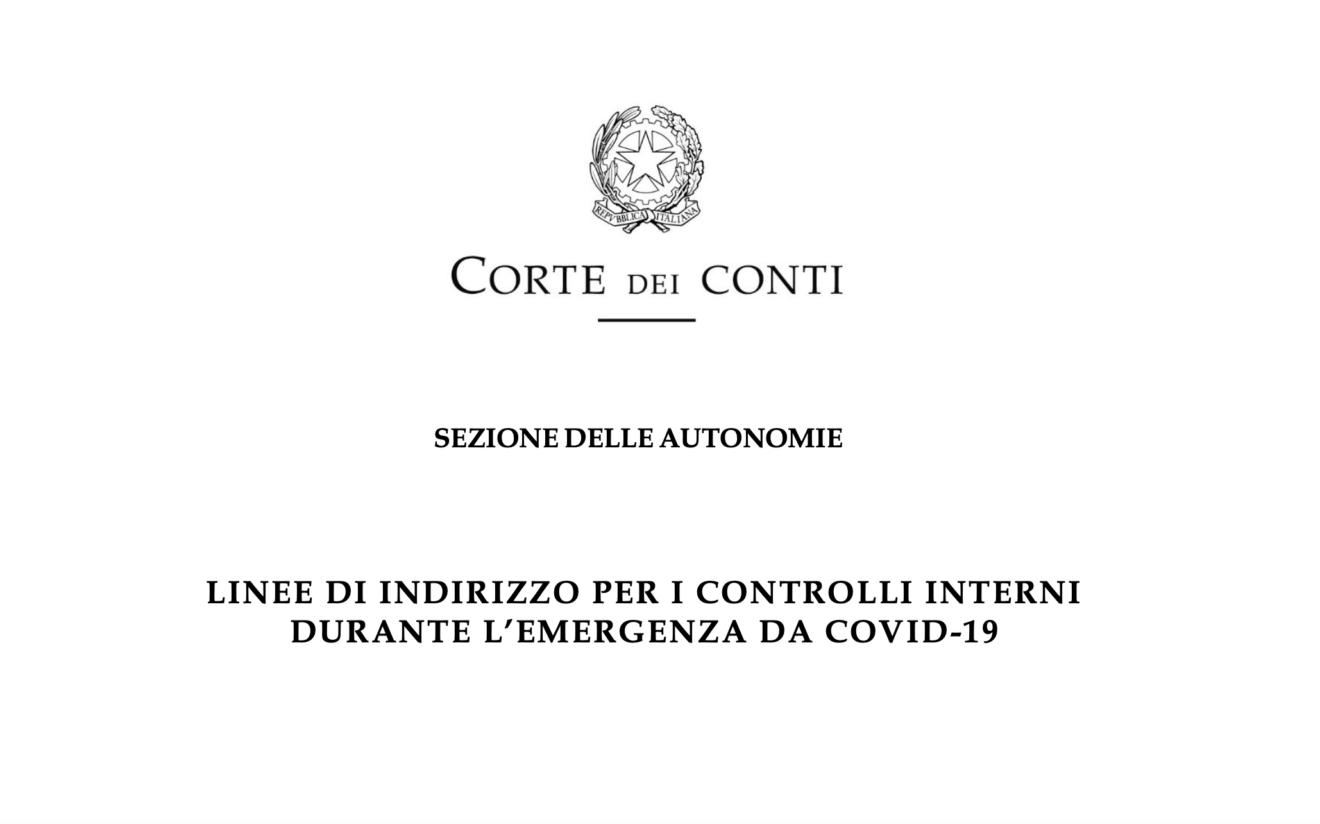 Corte dei Conti: le nuove linee di indirizzo per i controlli interni durante il COVID